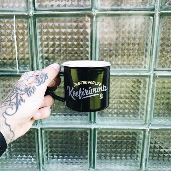 Enamel mug – Black