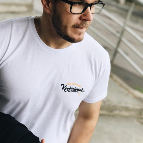 Nr. 1 – White 100% organic t-shirt